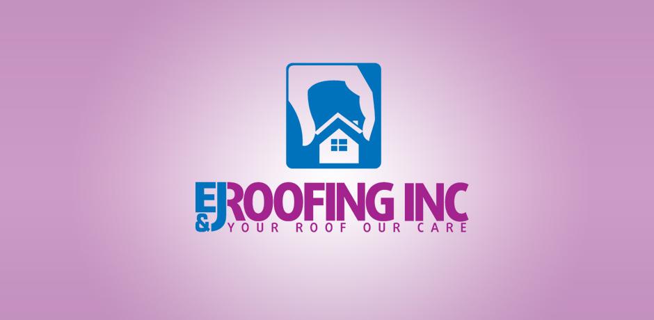 E & J roofing Logo