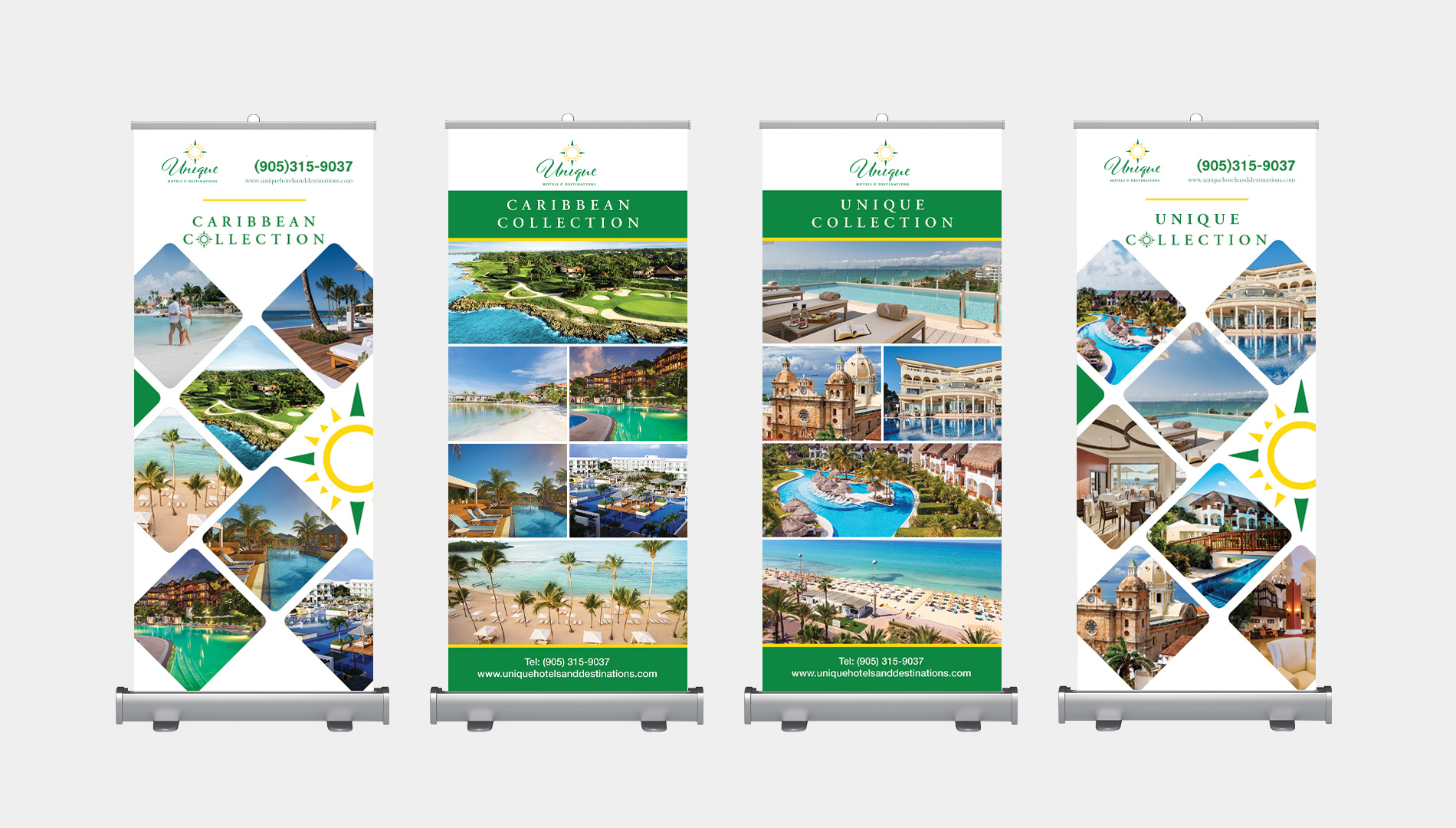 Unique Hotels and Destinations Rollup Banners