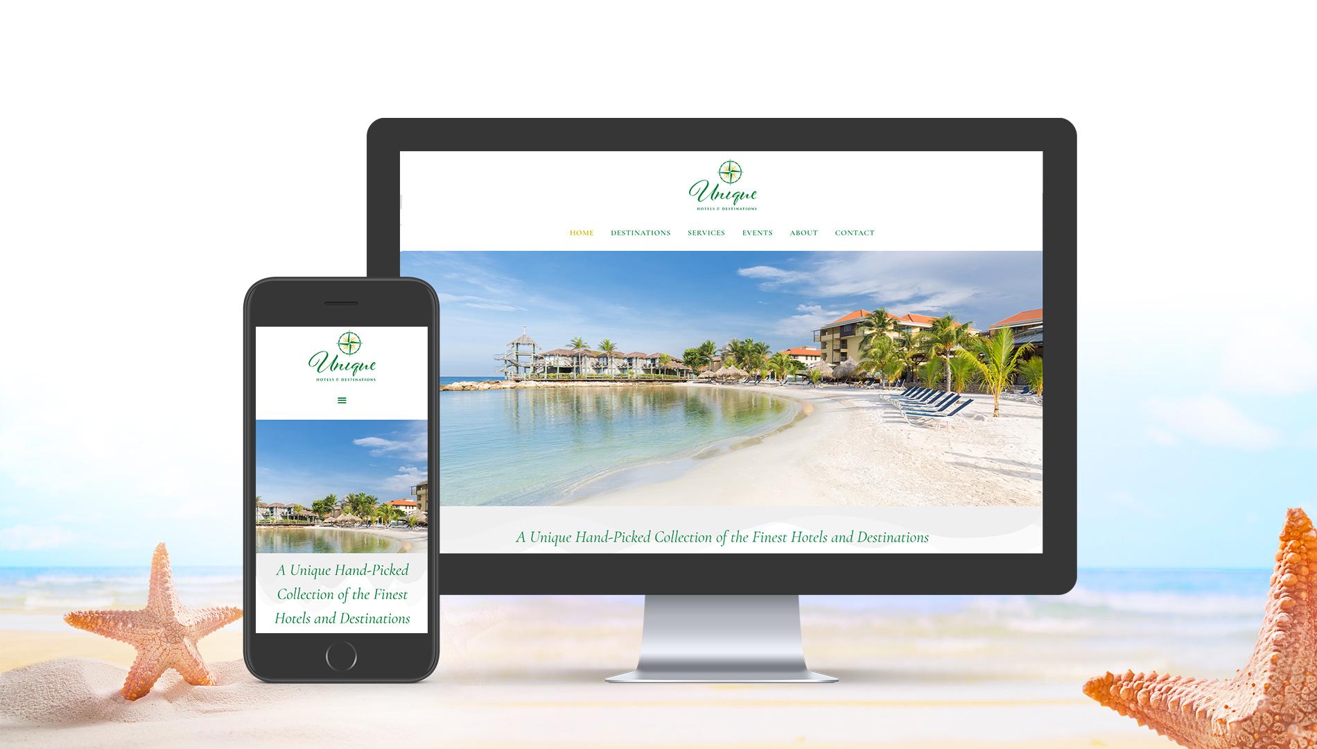 Unique Hotels and Destinations Website Design
